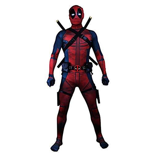 TOYSSKYR Cosplay Deadpool ropa masculina adulto impresión medias elásticas body show de disfraces de disfraces (color : Rojo, Tamaño : S)