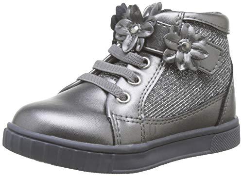 Chicco Polacchino Cesira, Zapatillas de Gimnasia para Niñas, Gris (Acciaio 080), 23 EU