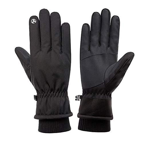 TOT HF winterloophandschoenen voor mannen en vrouwen, wind- warme liner handschoenen met touchscreen-functie, voor Outdoor Sports - zwart