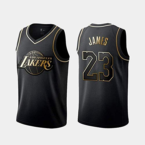 Zxwzzz Männer Jersey Lakers No.23 Lebron James Retro Basketball-Hemd Sommer-Basketball-Trikot Stickerei Tops Basketball-Klage (Color : B, Size : X-Large)