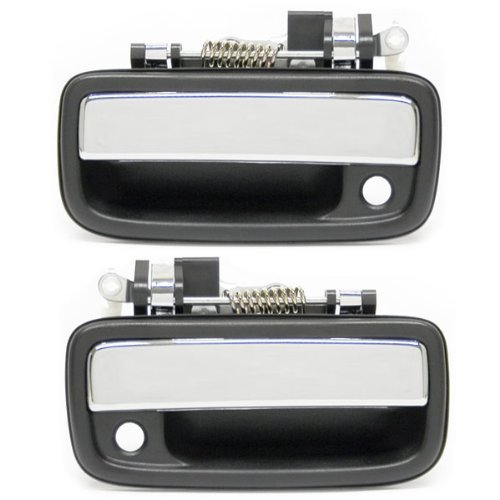2 Chrome 2 Gray AUTEX Door Handle 2 Exterior 2 Interior Front Left//Right Set Compatible with Toyota Tacoma 1995 1996 1997 1998 1999 2000