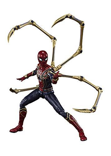 Bandai Hobby, Tamashii Nations Avengers: Endgame S.H. Figuarts Action Figure Iron Spider (Final Battle) 15 cm, multicolore
