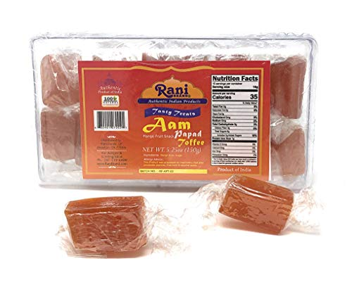 Rani Aam Mango Fruit Snack Toffee Candy Treat 525oz 150g Individually Wrapped in candy box Indian Origin amp Taste