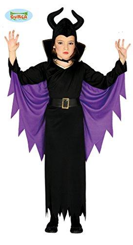 Guirca 87717 - Disfraz de Reina Maléfica para niña de 3/4 años, Negro y Morado, de 3 a 4