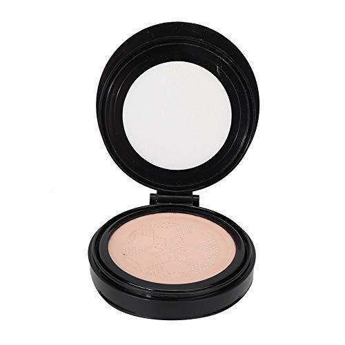 15 g + 15 g Crema BB en polvo prensado de color blanco marfil con crema de maquillaje hidratante corrector suave y liviana para un maquillaje duradero(Blanco marfil)