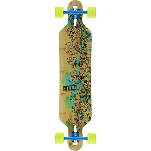 riviera longboards Riviera Skateboards Water Blossoms Longboard Complete Skateboard - 9.5