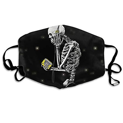 Yellow koptelefoon doodshoofd volwassenen mode Air Mask | masker | masker | wasbaar en herbruikbaar