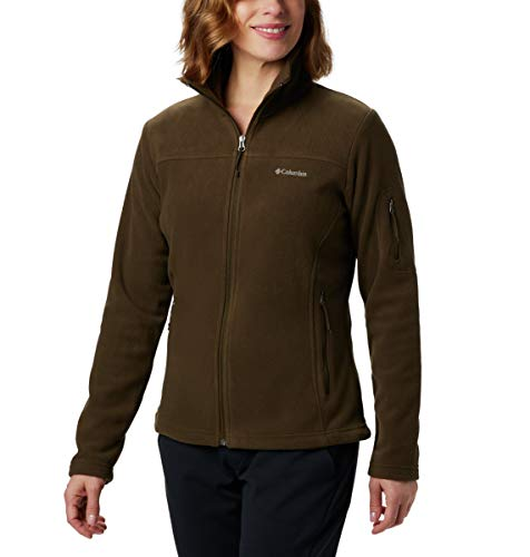 Columbia Damen Fleece-jacke Fast Trek II, Olive Green, S, 1465351