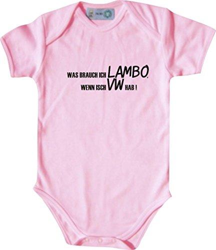 Unbekannt Lustiger Baby Body mit Druck/was Brauch Ich Lambo, Wenn Isch VW Hab! / Farbe: Babyrosa/Größe: 50-56 (1-2 Monate)