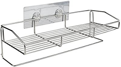 GZQNAN® New Stainless Steel Self Adhesive Wall Mounted Bathroom Shelf and Towel Holder
