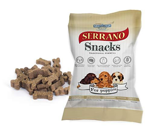 MEDITERRANEAN NATURAL Set de Snacks Serrano para Perros, Especial Cachorros, 100 g, 1 unidad
