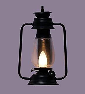 Improvhome Iron 0.5W Wall Mounted Lantern Style Lamp for Living Room (Black)