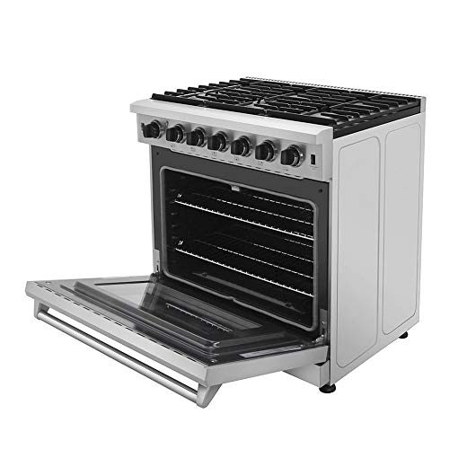 Thor Kitchen 36 inch Freestanding Pro-Style Professional Gas Range with 6.0 cu.ft....