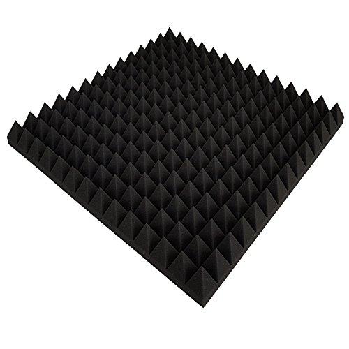 B-Ware in geprüfter Qualität nochmals bis zu 50% reduziert!! 12 x Akustikschaumstoff ca. 50x50x5cm, Anthrazit Schwarz, Schaumstoff Noppenschaum