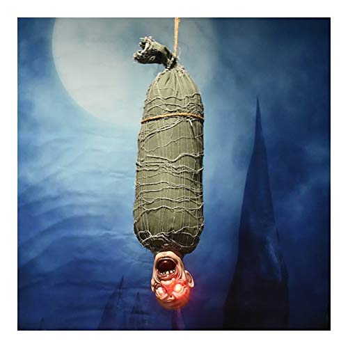 Guomao ハロウィーンは、幽霊をハングバットゴーストの装飾は、電子玩具の電気お化け屋敷の部屋の配置ペンダントグロー (色 : ArmyGreen)