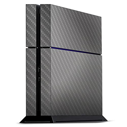 DeinDesign Skin kompatibel mit Sony Playstation 4 PS4 Folie Sticker Metallic Look Carbon Muster