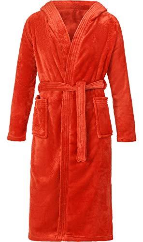 Ladeheid Albornoz con Capucha Ropa de Casa Mujer LA40-140 (Rojo (Moho), 38 (Talla del Fabricante: M))
