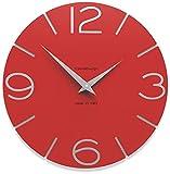 CalleaDesign - Orologi da Muro Smile, Colore: Rosso Fuoco