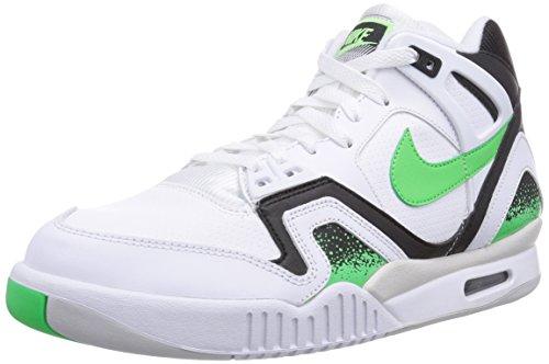 Nike Air Tech Challenge II, Zapatillas de Tenis para Hombre, Blanco (White/Psn Grn-Blk-Lght Ash Gry), 41 EU