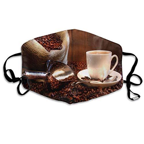 Kaffee und Gesundheit Natur Gedruckte Wiederverwendbare waschbare Gesichtsschutzhülle für den persönlichen Schutz