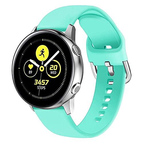 LLKHFA Correa de silicona para reloj Samsung Galaxy Watch 42 mm Active2 40/44 mm suave para reloj deportivo Samsung S2 Classic (color de la correa: color 8, ancho de la correa: para Amazfit Bip)