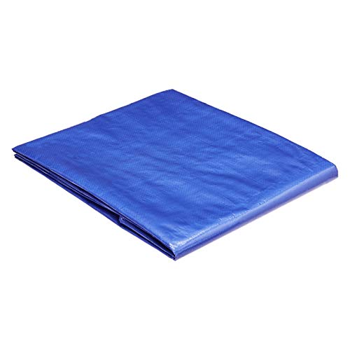 AmazonCommercial Multi Purpose Waterproof Poly Tarp Cover, 5 X 7 FT, 5MIL Thick, Blue, 4-Pack