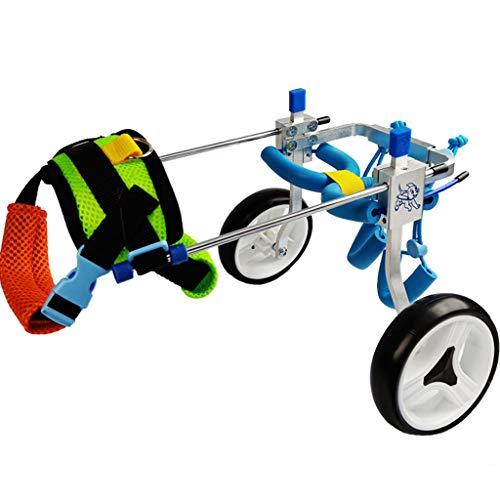 Mascotas pequeñas Silla de ruedas para perros grandes para patas traseras, silla de ruedas para mascotas con soporte completo ajustable con 2 ruedas, carro para perros Patas traseras y rehabilitació