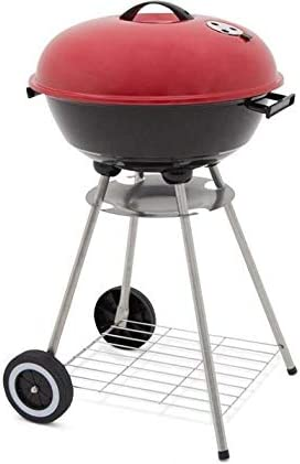 wholesale alp popular Classic high quality Large 18x31 Charcoal Barbecue Grill Portable BBQ Heavy Steel W/Wheels Legs Ash Catcher Red/Black Color outlet online sale