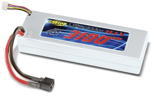 Carson 500608102 – Batterie Racing Pack, 11,1 V/3100 mAh Lipo 40 C