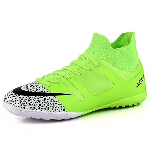 TAZAN Hombre Zapatos de fútbol Profesional Negro Jóvenes Fútbol Zapatos Spike al Aire Libre Ciencias Ciencias Profesionales Fútbol Zapatos Adolescente Deporte Azul (4 Color) 36-49,Green2,44