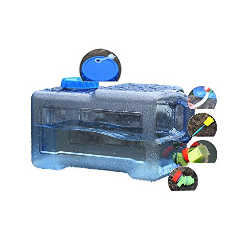 YXYXX PC Portátil Tanque De Agua, Con un Grifo, Se Utiliza para Acampar, Hacer Senderismo, Pescar, Escalar, Hacer Picnic, Hacer Barbacoas, Viajar al Aire Libre/azul / 22L