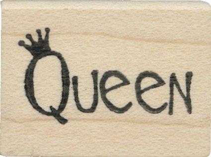 Tampon en caoutchouc - Queen Word - Cats Life Press 617 B