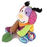 Baby Kinderwagen Spielzeug Spieltier Motorikspielzeug zum Aufhängen mit Beißring und