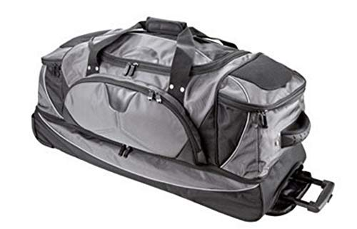 Dermata Rollenreisetasche mit Rucksackfunktion und separatem Bodenfach - 86x44x37cm