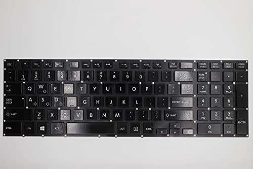 Teclado avanzado de Repuesto para computadora portátil, Teclado retroiluminado para Toshiba AEBLIU01110 9Z.NBCBQ.001 NSK-V90BQ 01, diseño de EE. UU. Sin reposamanos