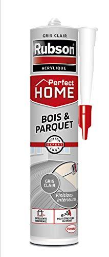 Perfect Home Dichtstoff Holz & Parkett, Farbe Grau, Acrylkitt für alle Untergründe Holz und Mauerwerk, Dichtungen für Innen und Außen, 280 ml