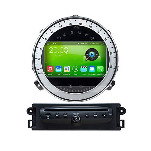 WHL.HH Androide 8.0 Auto Radio Estéreo GPS Navegación Multimedia Jugador por B M W Mini 2006-2013 Navegación por satélite Cabeza Unidad Tocar Pantalla Teléfono Control