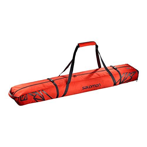 Salomon, Skisack EXTEND 2PAIRS 175+20 SKIB, Für 2 Paar Ski, Für Ski zwischen 175 - 195 cm, Rot (Cherry Red)/Dunkelgrau (Ebony), LC1168700