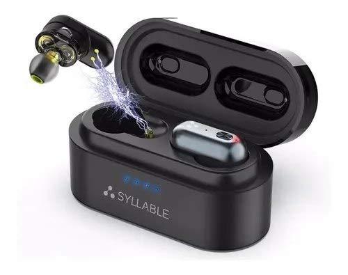 Fone De Ouvido Syllable® S101 c/Bluetooth 5.0, IPX6 e até 10h de bateria - Preto. Já no Brasil!