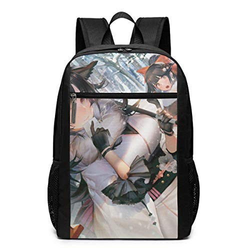 Akagi Atago-Azur Lane Print Bookbag Laptop Backpack College School Computer Bag