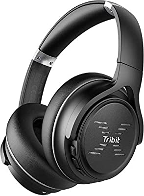 Tribit XFree Go Bluetooth Headphones, Wireless Headphones over Ear with Bluetooth 5.0, HiFi Sound with Deep Bass, USB lightening Fast charge, 24H Playtime, CVC8.0 Noise Cancelling Mics, Black from Tribit