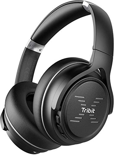 Tribit XFree Go Bluetooth Headphones, Wireless Headphones Over Ear with Bluetooth 5.0, HiFi Sound with Deep Bass, USB Lightening Fast Charge, 24H Playtime, CVC8.0 Noise Cancelling Mics