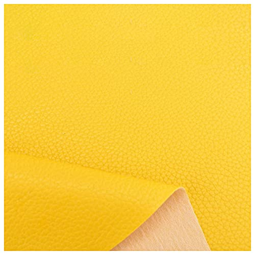 Kunstleder Stuhl Stoff Polsterung Gepolsterter Leder Stoff 100x140cm PU Stoff Leder Sofa Stoff Innenausstattung Brieftasche Handtaschen Dressing Nähen Handwerk(Size:1x1.4M/3.3x4.6FT,Color:Gelb)