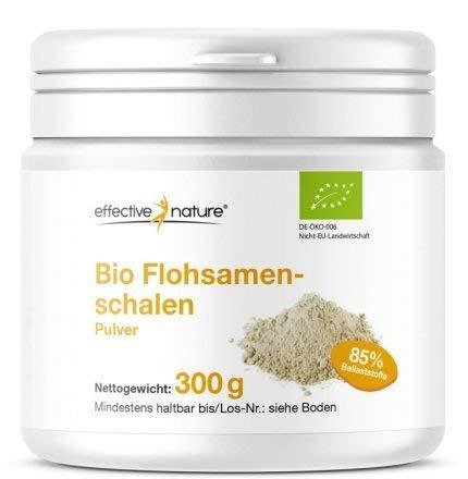 Bio Flohsamenschalen Pulver - Für eine effektive Darmreinigung - 85% Ballaststoffe - 300 g
