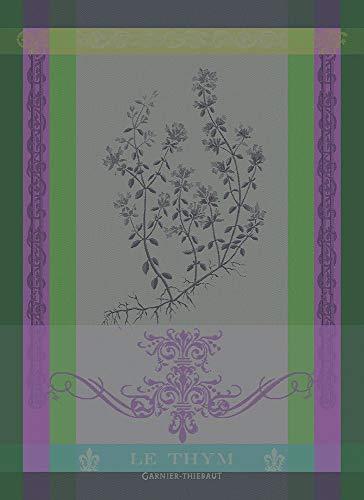 Garnier Thiebaut Geschirrtuecher Brin De Thym Vert 56 X77 cm 100% Baumwolle