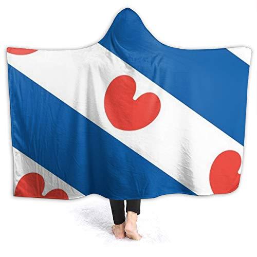Friesland flanellen deken met een hoed marine reizen enkele grootte (127 X 153cm) fleece bed gooien warme zachte omkeerbare anti-drijvende flanel massief deken voor bed en bank.60