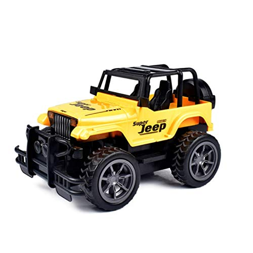 AllSeasons Mini 1/16 2.4G 4CH Remote Control Super Extreme Jeep High Speed Remote Control Toy Super Extreme Jeep Off Road for Boys (Yellow)