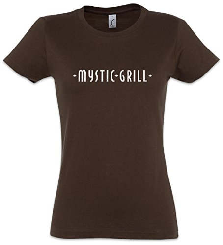 Urban Backwoods Mystic Grill Damen T-Shirt Braun Größe XL