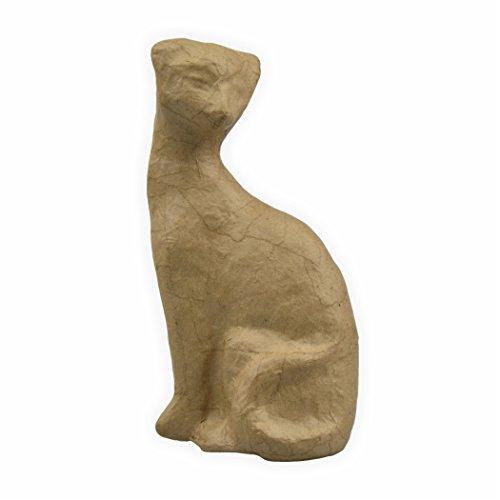 Papp Figur Katze 11 x 6 x 19,5 cm zum bemalen und bekleben
