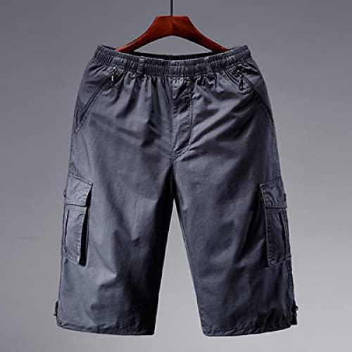 ShZyywrl Pantalones Cortos De Hombre Pantalones Cortos De Carga para Hombre, Bolsillo con Cremallera, Pantalón Largo Largo para Hombre, Pantalones Cortos Infor